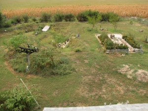 A view of the main beds from up high. The whole area is around 150'x150'.